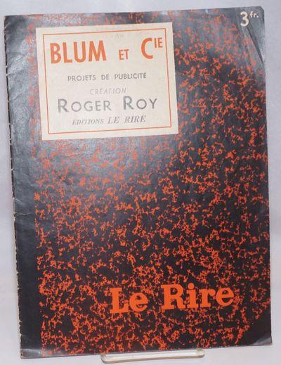 Paris: Le Rire, 1936. Magazine. Unpaginated 12.5x9 inch self-wraps, a cheaply-made magazine with abo...