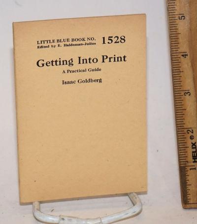 Girard, KS: Haldeman-Julius Company, n.d.. 32p., 3.5 x 5 inch wraps, very good. Little blue book no....