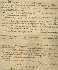 AUTOGRAPH MANUSCRIPT likely from FREDERICK THE GREAT