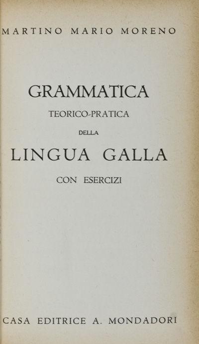 Roma: Casa Editrice A. Mondadori Collezione Diretta da Carlo Conti Rossini. Accademio D'Italia, 1939...