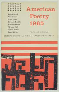 American Poetry 1965, Critical Quarterly Poetry Supplement Number 6