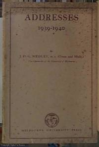 image of Addresses 1939-1940