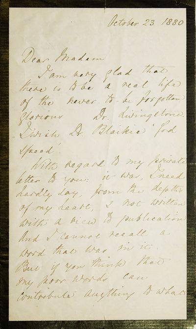 "Autograph letter, signed (""Florence..."