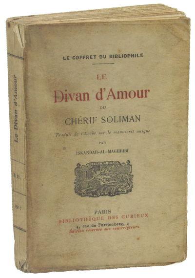 Paris: Bibliotheque Des Curiex, 1917. Paperback. Good. 15.5 by 10 cm. #952 of 1310cc. 163pp. Spine c...