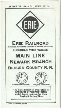Suburban Time Tables Main Line Newark Branch Bergen County R.R. Effective April 27, 1941