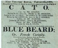image of Theatrical Broadside for the New Theatre Royal, Covent-Garden, Saturday, March 6, 1811
