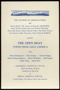 [Program]: The Open Boat: Poems From Asian America