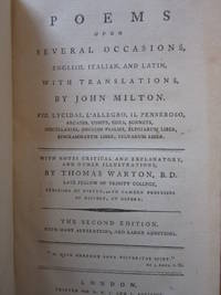 Poems Upon Several Occasions, English, Italian, and Latin, with Translations