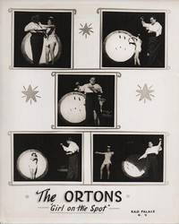 THE ORTONS--GIRL ON THE SPOT:  Publicity poster for this husband & wife knife-throwing act