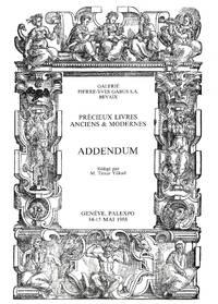 Sale 14-15 mai 1988: Vente de Livres Précieux aux Enchères Publiques dans  le cadre...