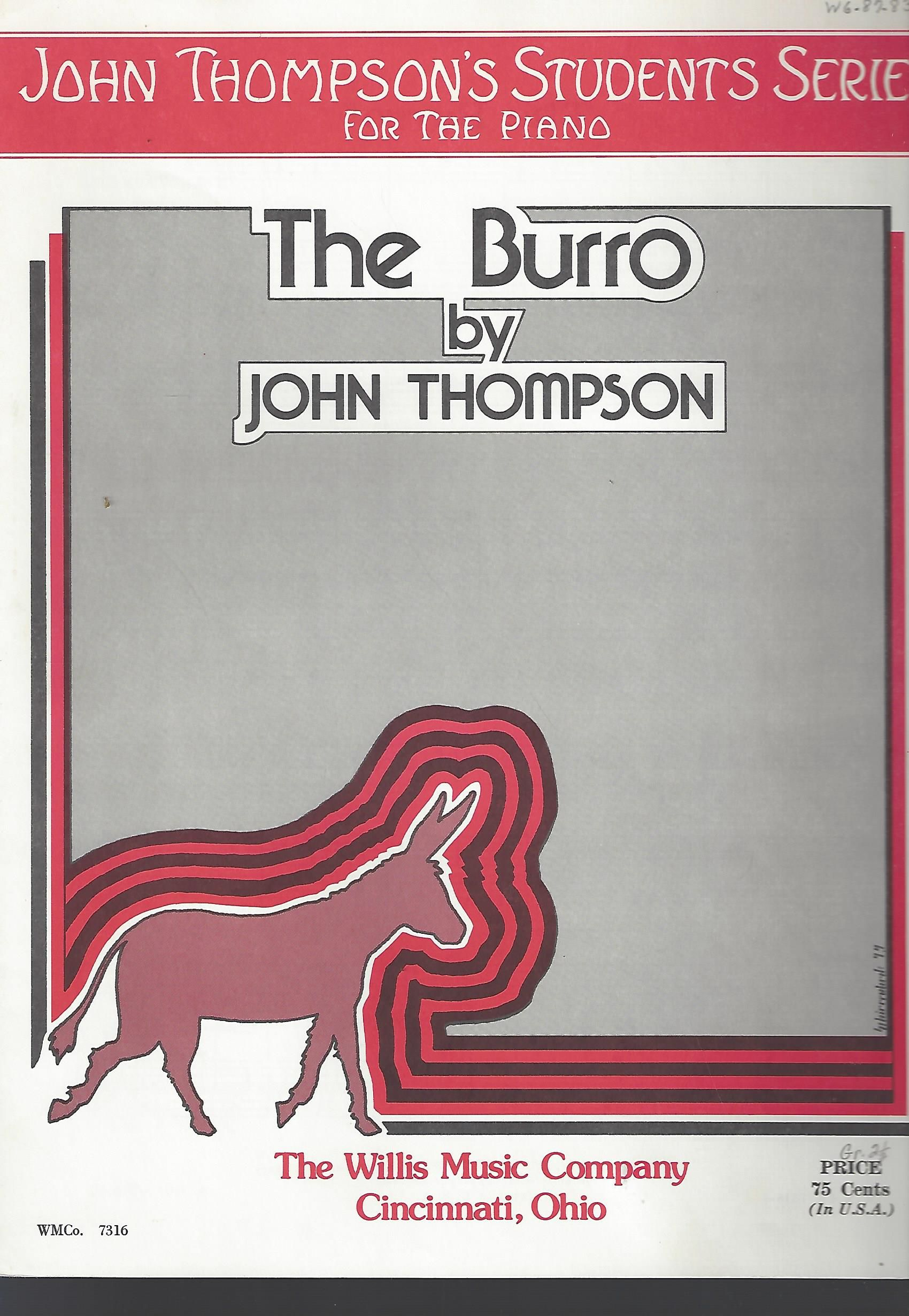the burro john thompson mid elementary level