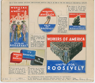 Artwork for FDR�s 1936 Reelection...