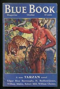 """image of Tarzan's Quest [its first appearance, as """"Tarzan and the Immortal Men,"""" in  six consecutive issues of The Blue Book Magazine (October 1935 - March  1936)]"""