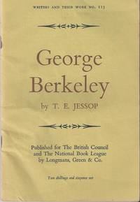 George Berkeley by  J.T Jessop - First Edition - 1959 - from Christopher Baron and Biblio.com