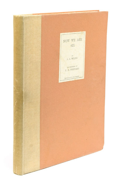 London: Methuen & Co, 1927. Large Paper edition, no. 107 of 200 numbered copies, signed by Milne and...