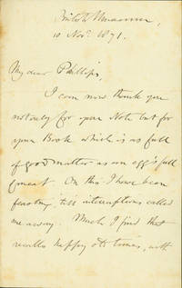 Autograph letter signed to John Phillips