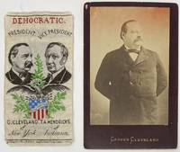 Presidential Campaign Ribbon:  Democratic.  President G. Cleveland of New York. Vice President. T.A. Hendricks of Indiana