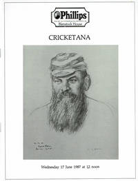 image of CRICKETANA: including the collections of the late Cecil P. Goodman and the late Mr. C. M. Pardy; To be sold by auction Wednesday 17 June 1987 at 12 noon in the Blenstock Room....