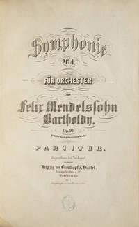 [Op. 90]. Symphonie No. 4. für Orchester... Op. 90. No. 19 der nachgelassenen Werke. Partitur... Pr. 4 Thlr. 15. Ngr. [Full score]