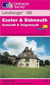 image of Exeter and Sidmouth, Exmouth and Teignmouth (Landranger Maps 192 Map)
