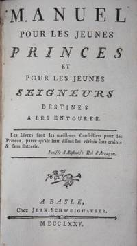 Basle: Jean Schweighauser, 1775. First Edition. Hardcover. Paper pastedown. . Very Good Plus. 12mo. ...