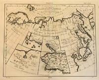 Carte des parties Nord et est de L'Asie; qui Comprend les Cotes de la Russie Asiatique le Kamschatka, le lesso, et les Isles du Japon   dessie en 1764 par M***   novelle edition reduite par M de Vaugoundy    1772