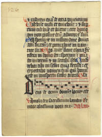 Manuscript leaf from a pocket breviary. In Latin. ?14th-15th century