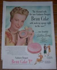1947 BEAU CAKE MAKE UP LIFE MAGAZINE COLOR ADVERTISEMENT WITH HILLARY  BROOKE