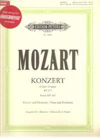 Piano Concerto in D Major KV 175 & Rondo in D Major KV 382 Edition for 2 Pianos URTEXT