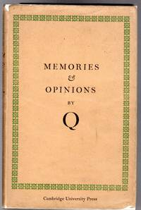 image of Memories and Opinions - An Unfinished Autobiography By Q