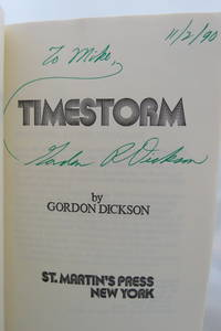image of TIME STORM  (DJ is protected by a clear, acid-free mylar cover) (Signed by  Author)