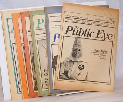 Chicago: Citizens in Defense of Civil Liberties, 1984. Six issues of the magazine from the years 197...