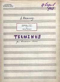 Terminus - for Cello Solo (1987) [SCORE]