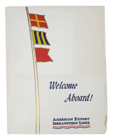 (n.p.), 1967. 1st Printing. White card bifolium housing a white paper bifolium. Printed in navy blue...