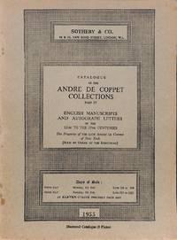 Catalogue of the  André de Coppet Collections.Part IV.