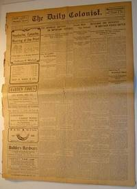 The (Victoria, British Columbia) Daily Colonist Newspaper: Wednesday, August 3, 1904 Issue by  Multiple Contributors - Paperback - First Edition - 1904 - from RareNonFiction.com and Biblio.com