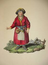 The Costume of the Russian Empire 1811. Original Hand Coloured Engraving by John Dadley (after Johann Gottlieb Georgi). Plate II: A Woman of Lapland