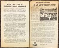 Stop the cuts in unemployment benefits [handbill]