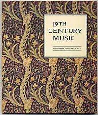 19th Century Music Summer 1985 Volume IX No. 1