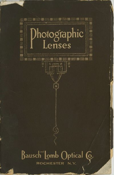Rochester: Bausch & Lomb Optical Co, 1912. 8vo., 63 pp., illustrated from b&w photograph and engravi...