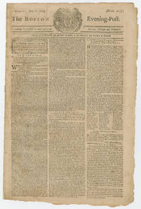 "Boston suffers under ""Intolerable Act"" closing of its port, Harvard cancels commencement, and New York calls for what became the first Continental Congress"