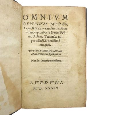 Omnium gentium mores, leges & ritus...