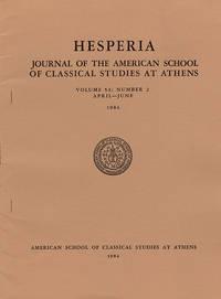 Hesperia (Volume 53, No. 2, April–June)
