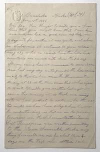 [Manuscript Letter, Signed, by S.L. Beckwith, Describing Unalaska in 1886]