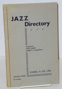 image of The directory; of recorded jazz and swing music (including gospel and blues records); volume three (E - Gordon)