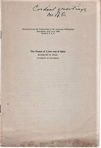 THE TRANCE OF LOVER AND OF SAINT.; Extracted from the Transactions of the American Philological Association, Vol. LXXI, 1940