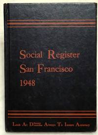 Social Register, San Francisco 1948. Vol. LXII, No. 9