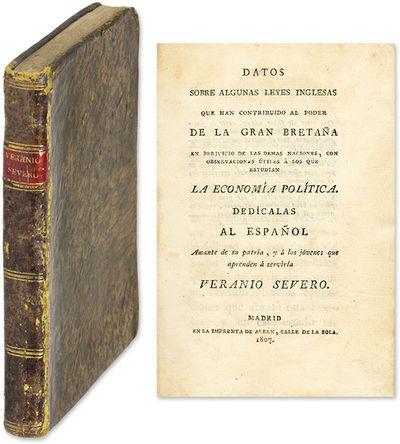 1807. Madrid, 1807. First edition. Madrid, 1807. First edition. British Manipulation of Internationa...