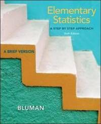 image of Elementary Statistics: A Step by Step Approach-A Brief Version, 6th Edition (With Data CD)
