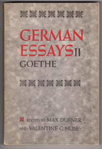 German Essays II: Goethe.